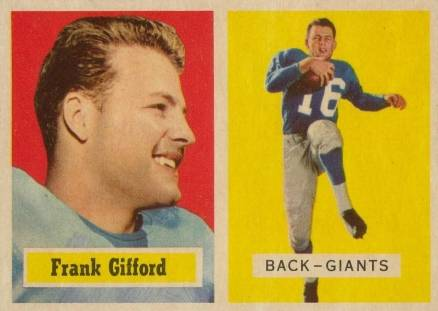 1957 Topps Frank Gifford #88 Football Card