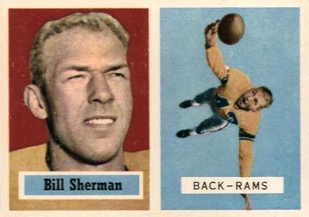 1957 Topps Bill Sherman #58c Football Card