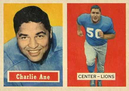 1957 Topps Charlie Ane #56 Football Card