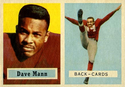 1957 Topps Dave Mann #50 Football Card