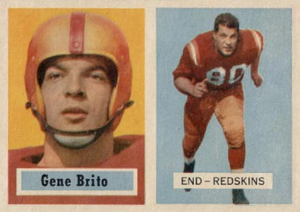 1957 Topps Gene Brito #48 Football Card