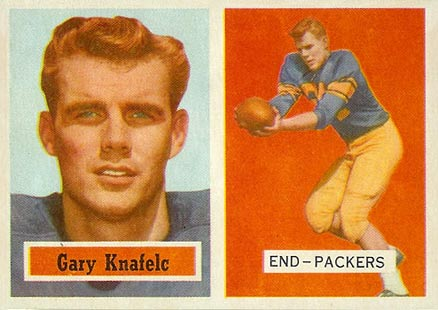1957 Topps Gary Knafelc #45 Football Card