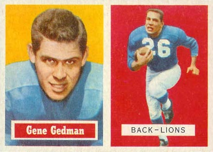 1957 Topps Gene Gedman #44 Football Card