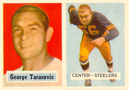 1957 Topps George Tarasovic #39 Football Card