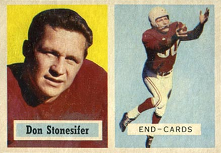 1957 Topps Don Stonesifer #38 Football Card