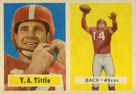 1957 Topps Y.A. Tittle #30 Football Card
