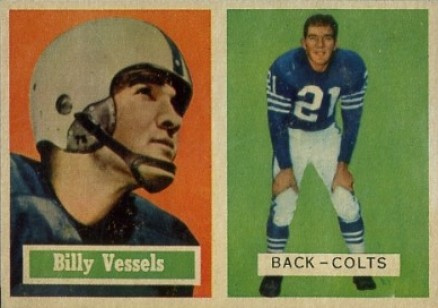 1957 Topps Billy Vessels #29 Football Card
