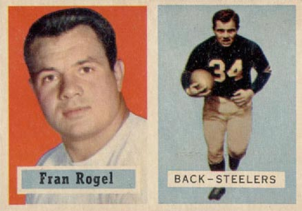 1957 Topps Fran Rogel #27 Football Card