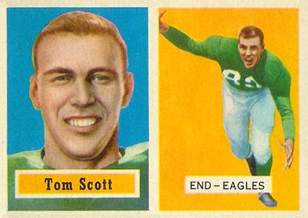 1957 Topps Tom Scott #25 Football Card
