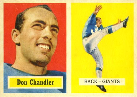 1957 Topps Don Chandler #23 Football Card