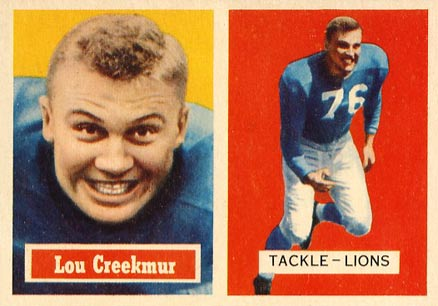 1957 Topps Lou Creekmur #20 Football Card