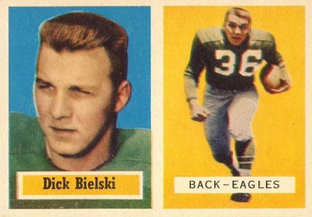 1957 Topps Dick Bielski #13 Football Card