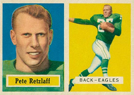 1957 Topps Pete Retzlaff #2 Football Card