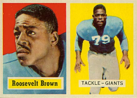 1957 Topps Roosevelt Brown #11 Football Card