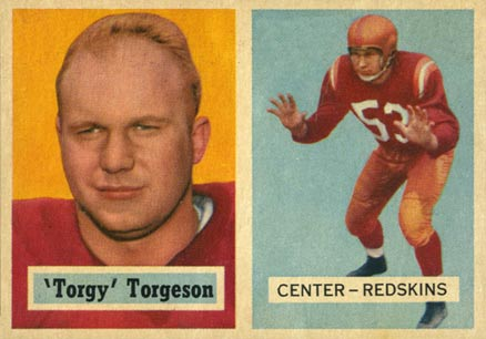 1957 Topps Torgy Torgeson #12 Football Card