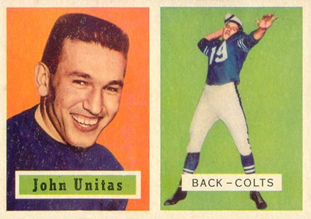 1957 Topps Johnny Unitas #138 Football Card