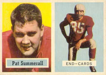 1957 Topps Pat Summerall #14 Football Card