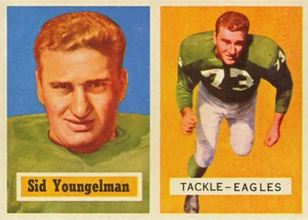 1957 Topps Sid Youngelman #145 Football Card