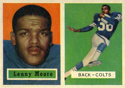 1957 Topps Lenny Moore #128 Football Card