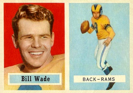 1957 Topps Bill Wade #34 Football Card