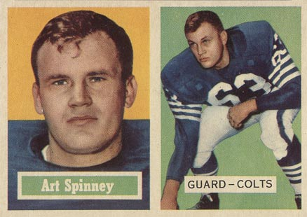 1957 Topps Art Spinney #17 Football Card