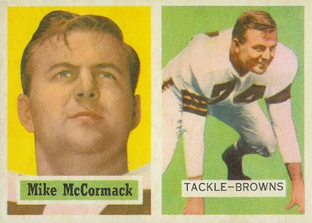1957 Topps Mike McCormack #3 Football Card