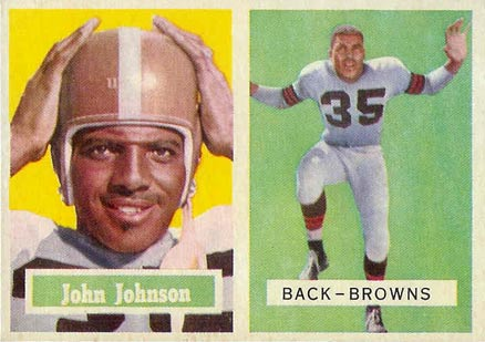 1957 Topps John Henry Johnson #16 Football Card