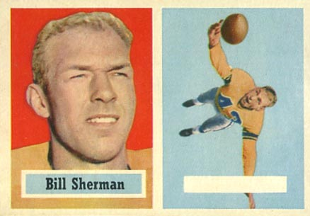 1957 Topps Bill Sherman #58-blank Football Card
