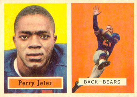 1957 Topps Perry Jeter #19 Football Card