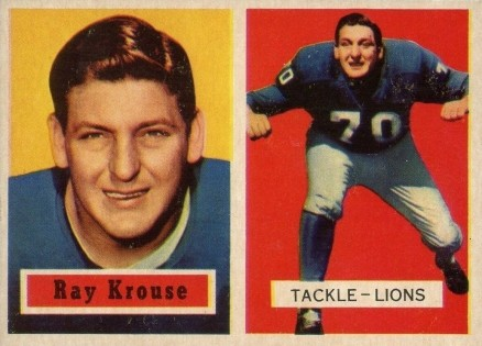 1957 Topps Ray Krouse #141 Football Card