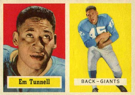 1957 Topps Emlen Tunnell #35 Football Card