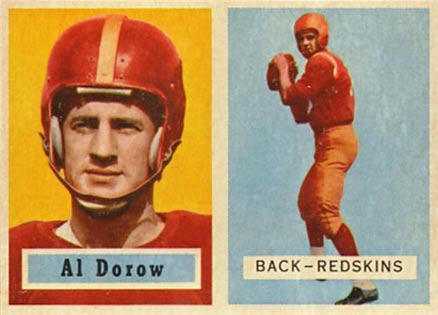 1957 Topps Al Dorow #24 Football Card