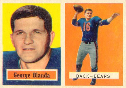1957 Topps George Blanda #31 Football Card