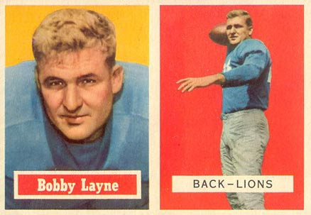 1957 Topps Bobby Layne #32 Football Card