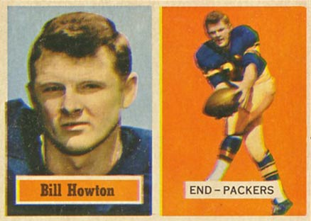 1957 Topps Bill Howton #33 Football Card