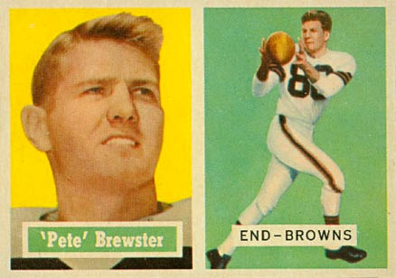 1957 Topps Pete Brewster #40 Football Card