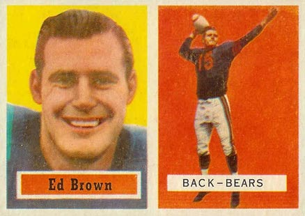 1957 Topps Ed Brown #43 Football Card