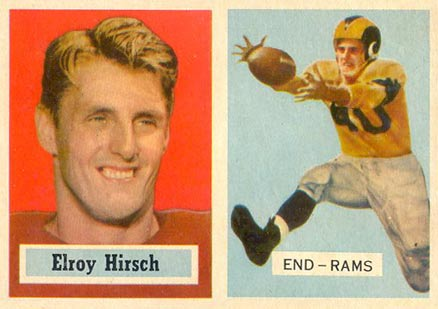 1957 Topps Elroy Hirsch #46 Football Card
