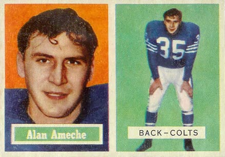 1957 Topps Alan Ameche #53 Football Card