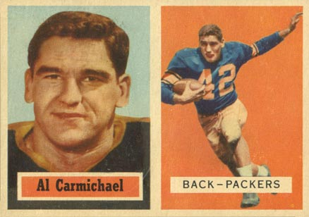1957 Topps Al Charmichael #57 Football Card