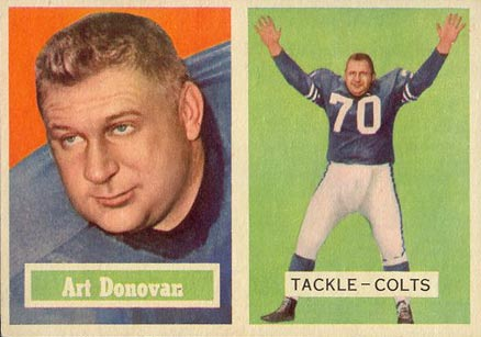 1957 Topps Art Donovan #65 Football Card