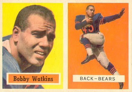 1957 Topps Bobby Watkins #7 Football Card
