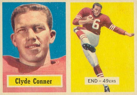 1957 Topps Clyde Conner #78 Football Card