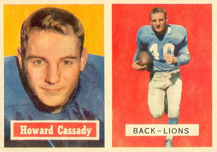 1957 Topps Howard Cassidy #80 Football Card
