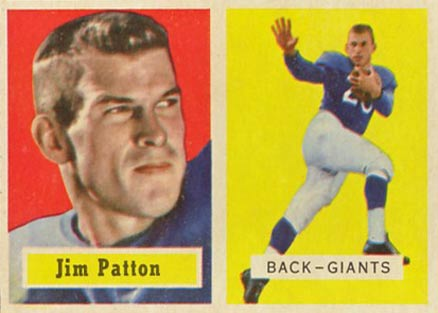 1957 Topps Jim Patton #83 Football Card