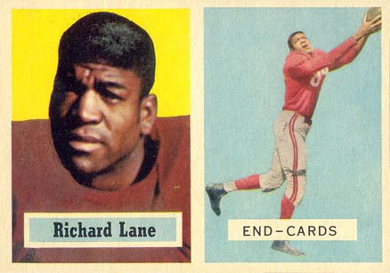 1957 Topps Dick Lane #85 Football Card