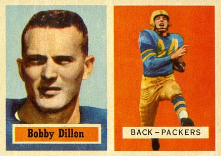1957 Topps Bobby Dillon #9 Football Card