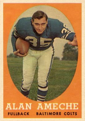 1958 Topps Alan Ameche #12 Football Card
