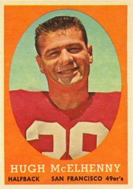 1958 Topps Hugh McElhenny #122 Football Card