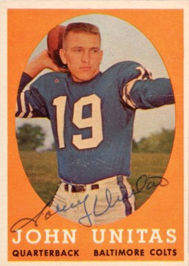 1958 Topps Johnny Unitas #22 Football Card
